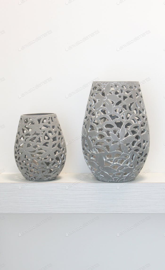 Two hand crafted vases