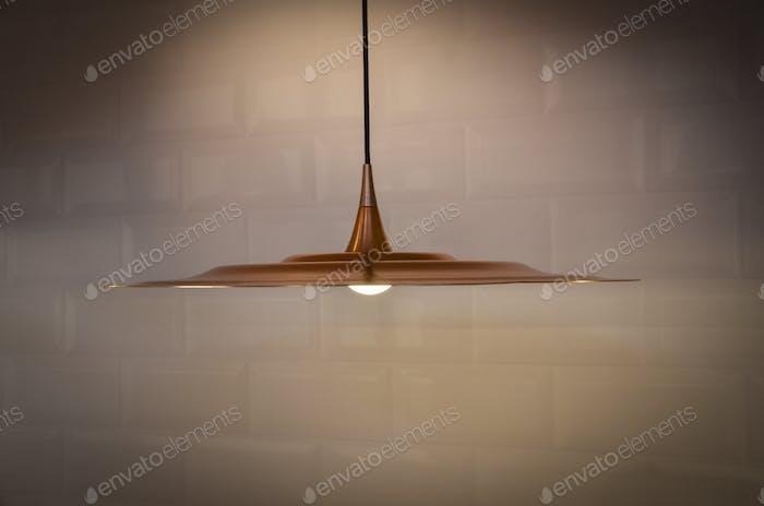 Minimalistic copper lamp