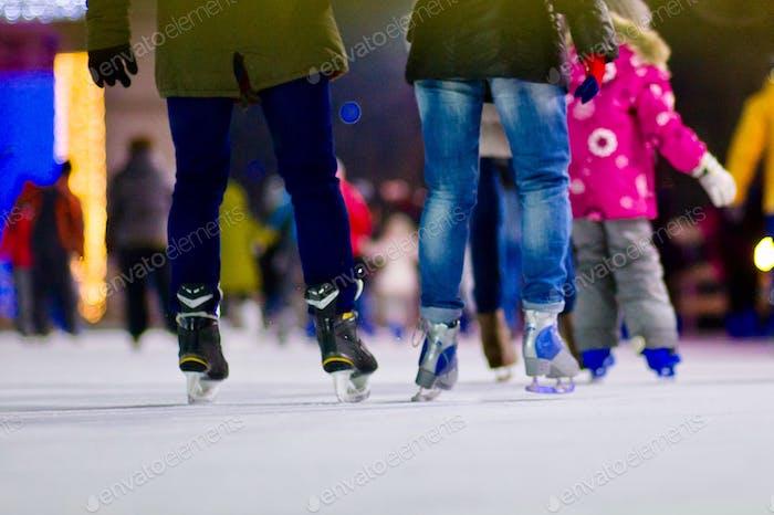 winter skating rink