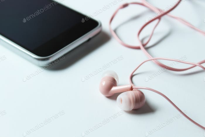 Cell phone and ear buds