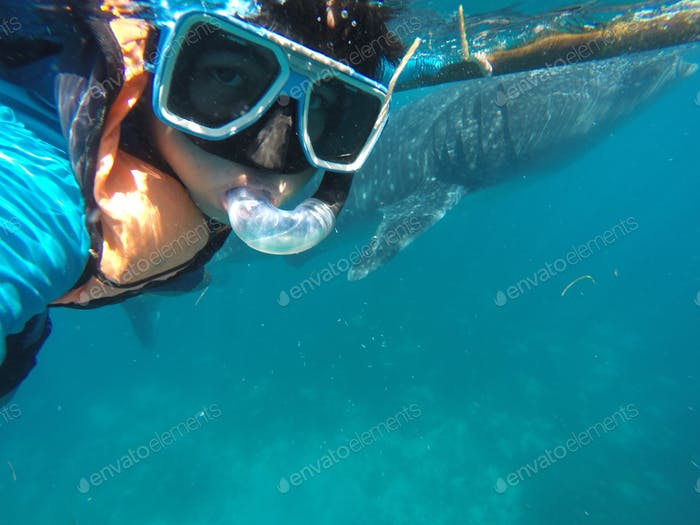 Selfie with the whale shark