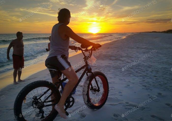 Biking into the sunset...
