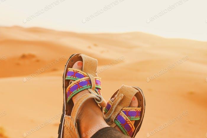 "Berber sandals. ""Immortal sandals"" in the desert 🌵"