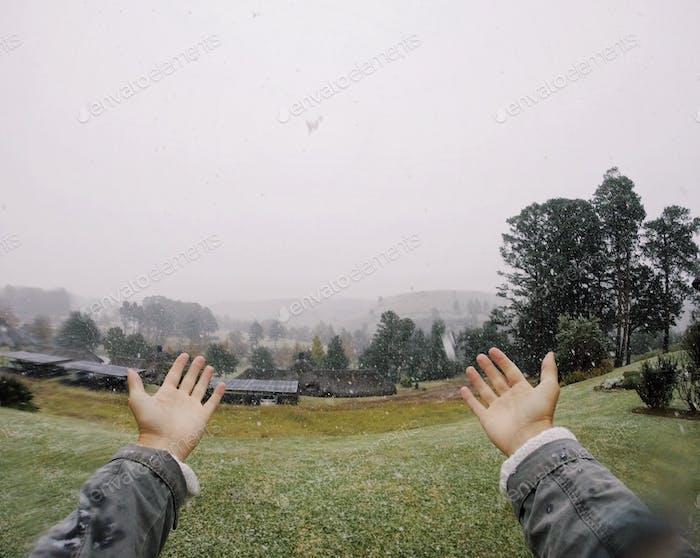 Primera vez que experimenta nevadas.