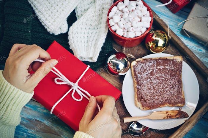 Fröhliches Weihnachtsgeschenk