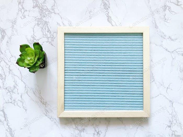 Light blue message board