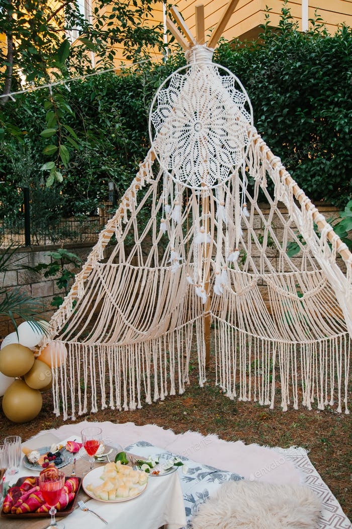 Boho-chic styled party