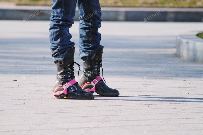 Stiefel mit Rädern