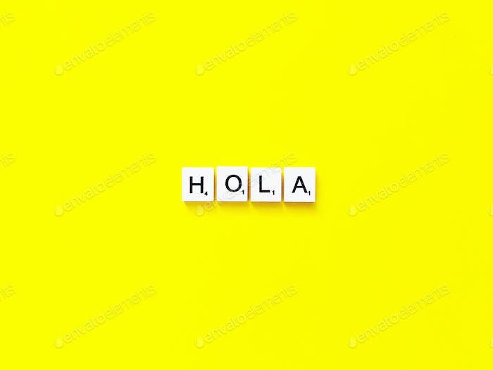 Hola/Hi/Hello
