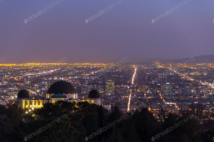 City of Angels - View of Los Angeles from Griffith Observatory hiking trail