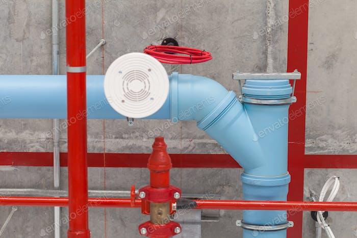 Tubería de agua industrial