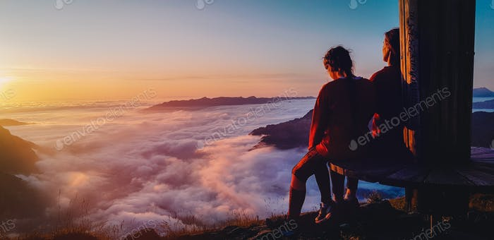 ⭐️Nominated ⭐️ Watching sunset over the clouds