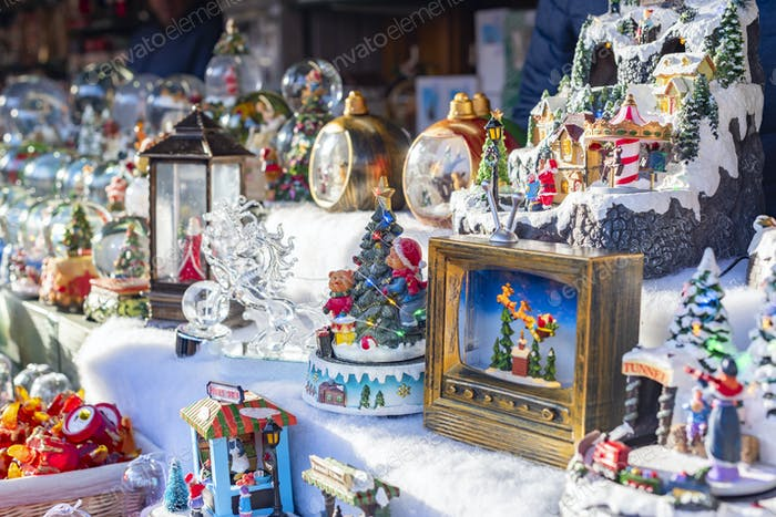 Christmas souvenirs on Christmas market in Innsbruck Austria