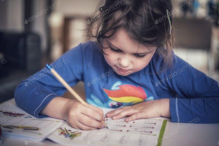 Homeschooling, doing homework
