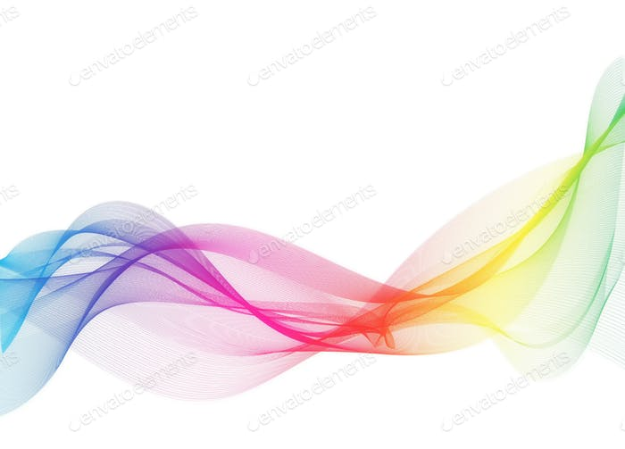 Abstract colors wavy of innovation technology concept