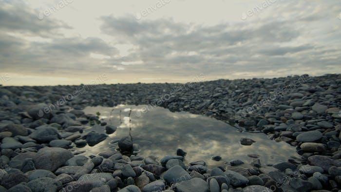 Wild Baikal beach Landscape view