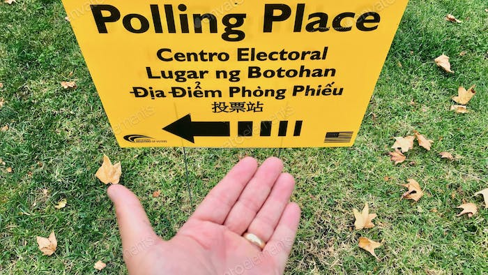 Finding the polling place to be able to vote in the election for our government.