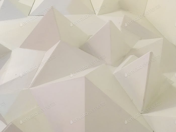 White triangles in white background  shapes