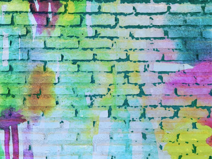Funky modern brick digital art background with space for copy. Digitally generated image.