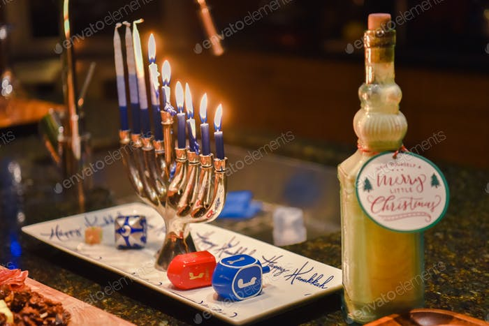 Some interfaith families celebrate both Hanukkah and Christmas.