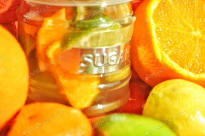 Citrus Still Life  Fructose, Oranges, Lemon, Lime,  Bright Colors, Sugar Bowl     Nominated🙏🍊🙏