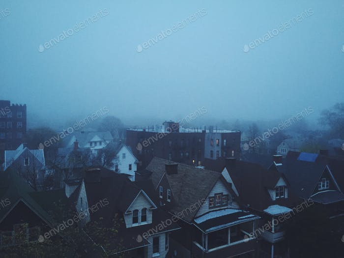 fog in Brooklyn, New York
