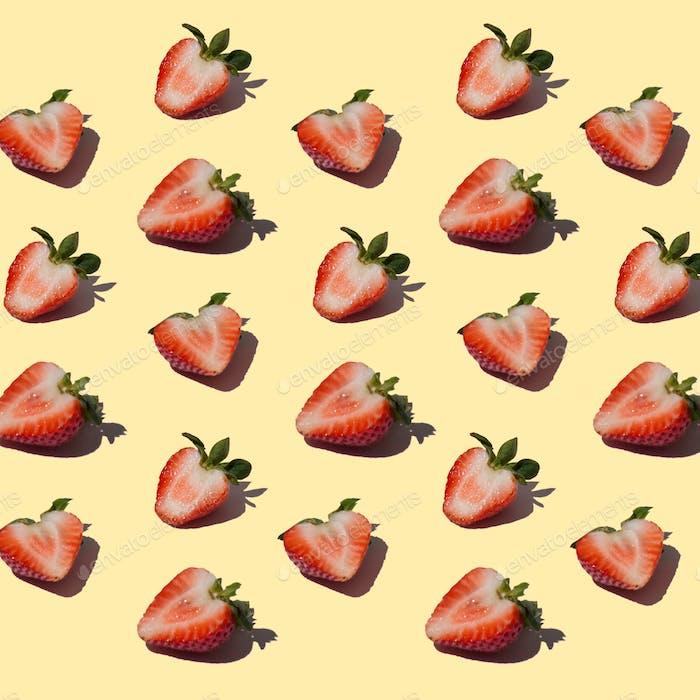 Erdbeeren auf Erdbeeren.