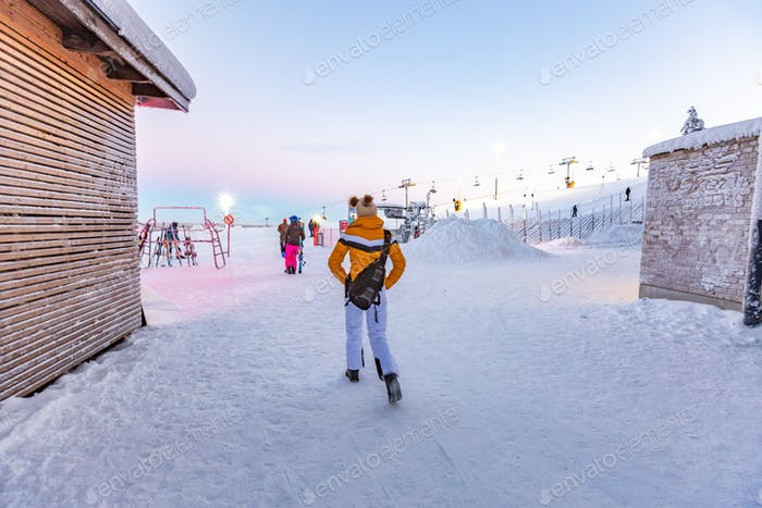 Winter ski resort Lapland
