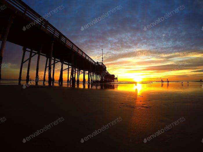 Newport pier, California
