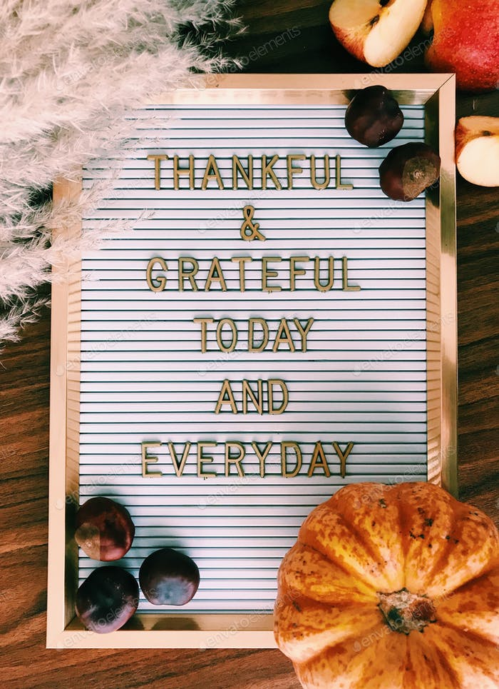 Thanksgiving quote on message board