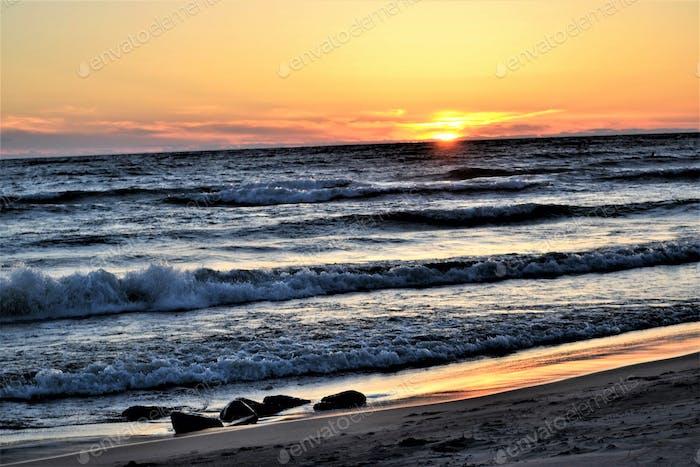 Beach landscape!! Lake Michigan  Nominated :)