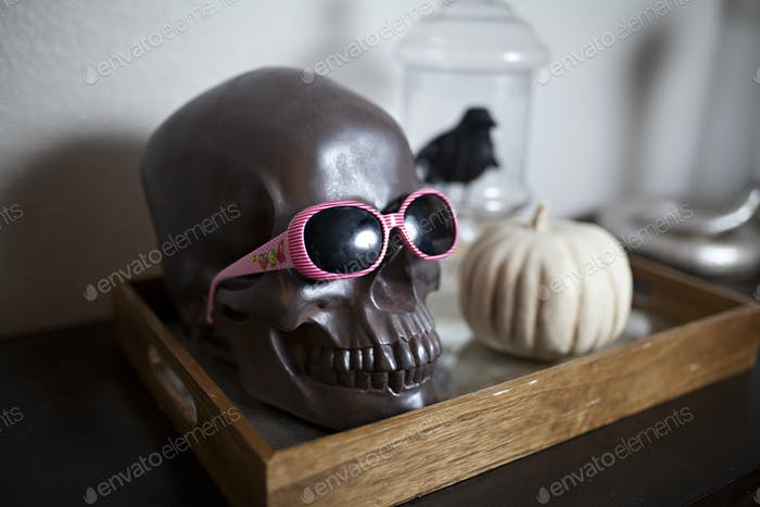 Creepy skull Halloween decoration