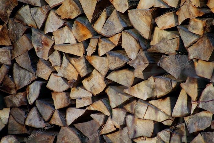 Montón de madera