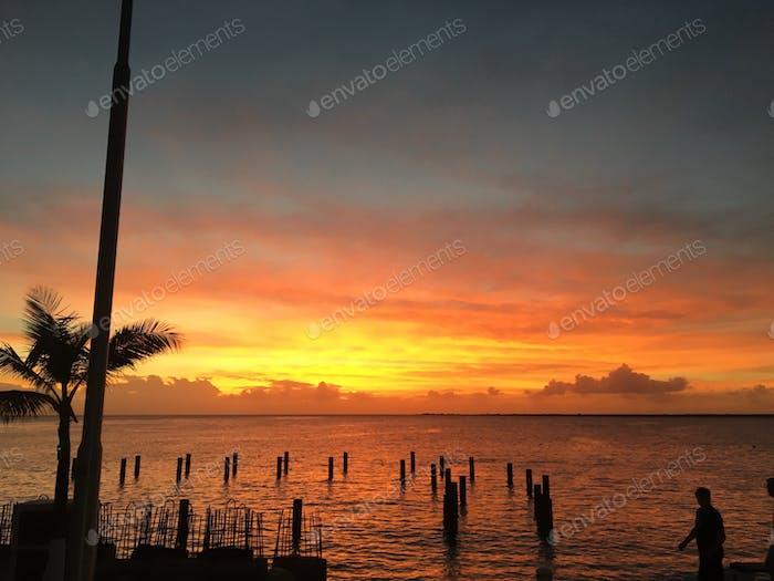Sunset in Bonaire, Dutch Caribbean