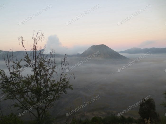 mount bromo and mount batok