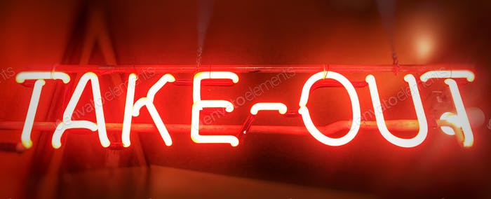 Neon sign take out