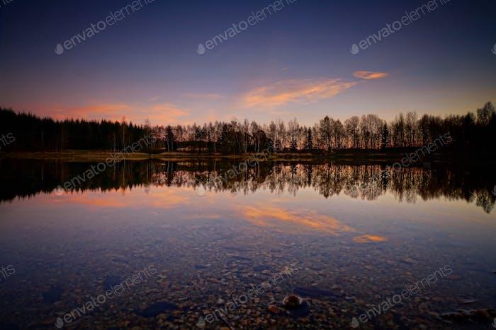 ..................... Winter Sunset ..................... ________ Czech Republic ________