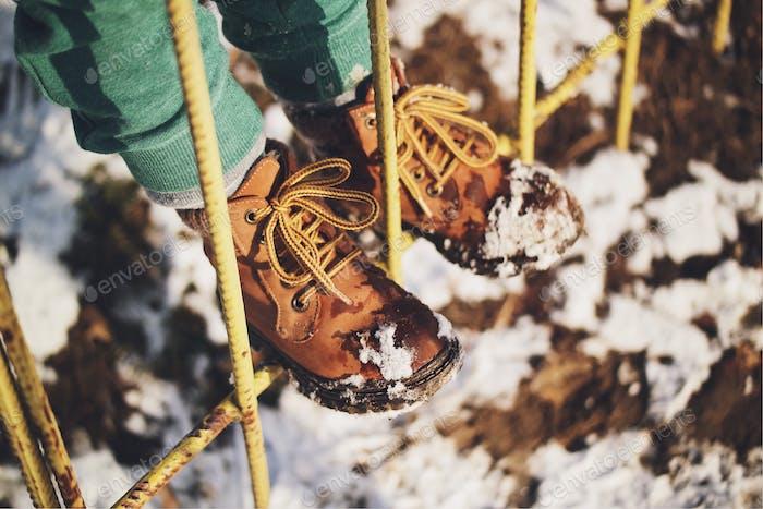 Winter: childhood's wonder...