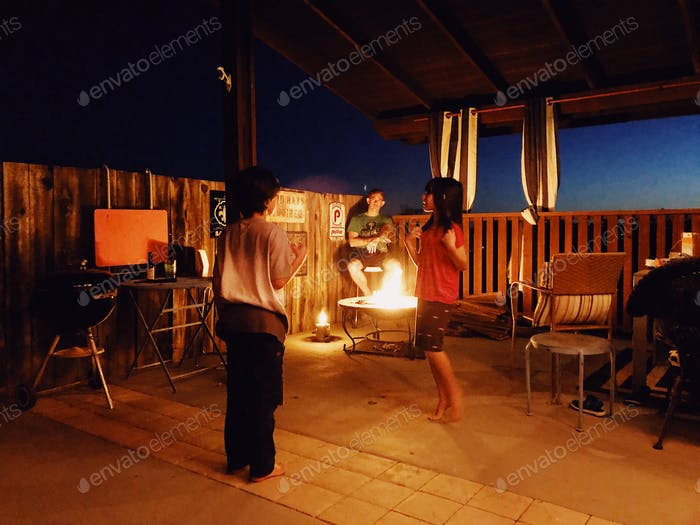 Outdoor living - fire pit