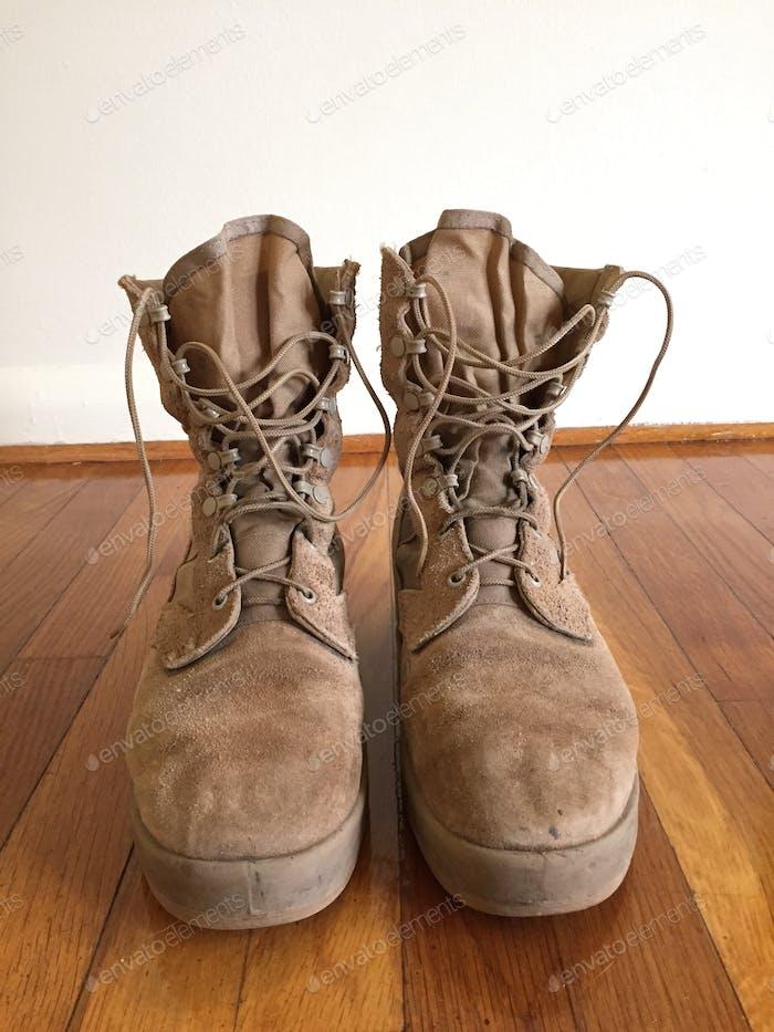 Stiefel eines Soldaten