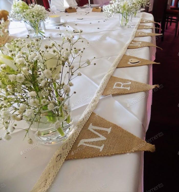 Hochzeit Tischdeko Mr und Mrs. 🎈🎈 Nominiert 🎈🎈