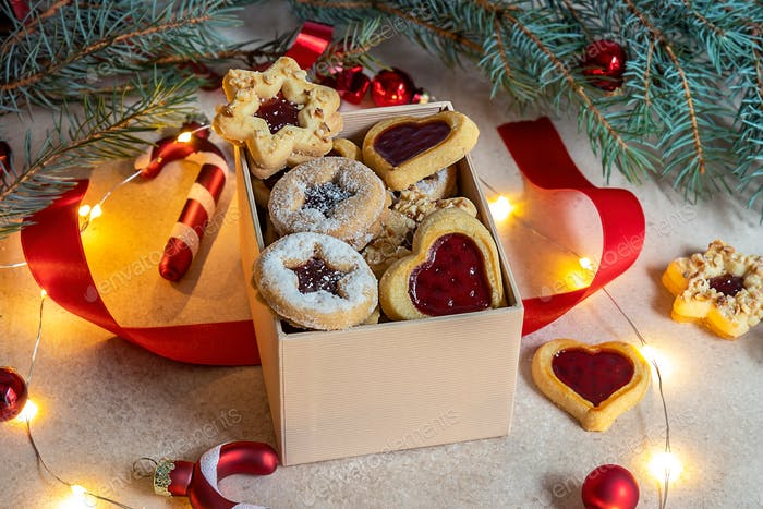 Linzer is a traditional Austrian and German Christmas filled cookies.