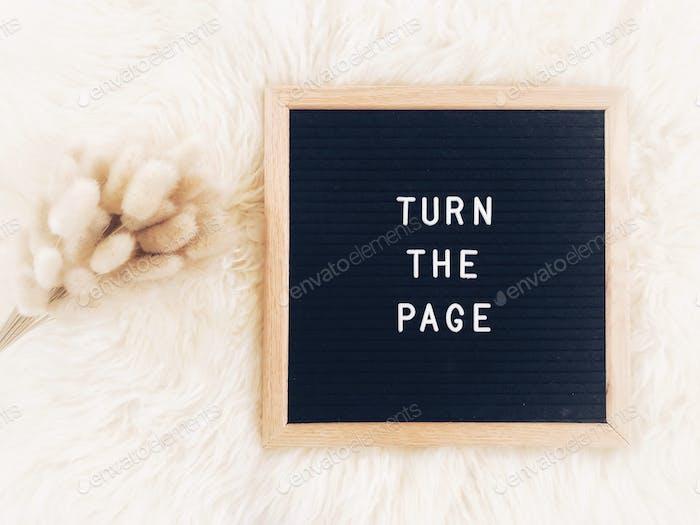 Drehe die Seite