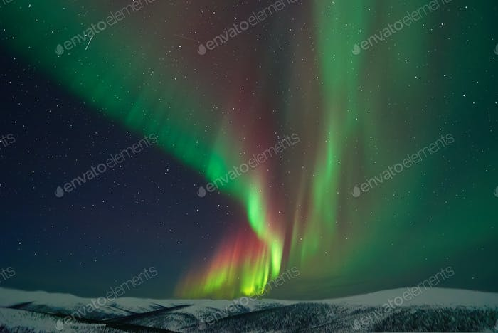 Aurora Borealis Northern Lights and Meteors