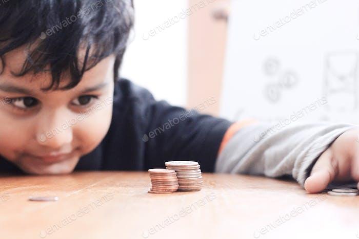 Kid entienden el valor del dinero
