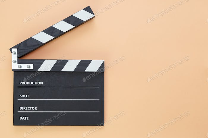black Clapper board