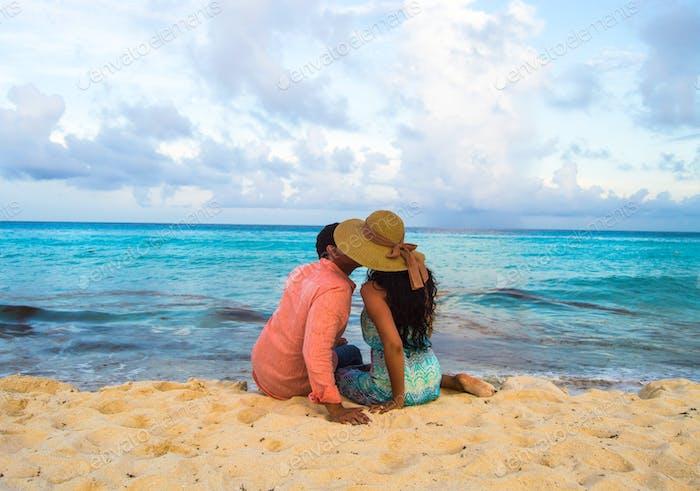 Our first kiss in Cancún, Méx