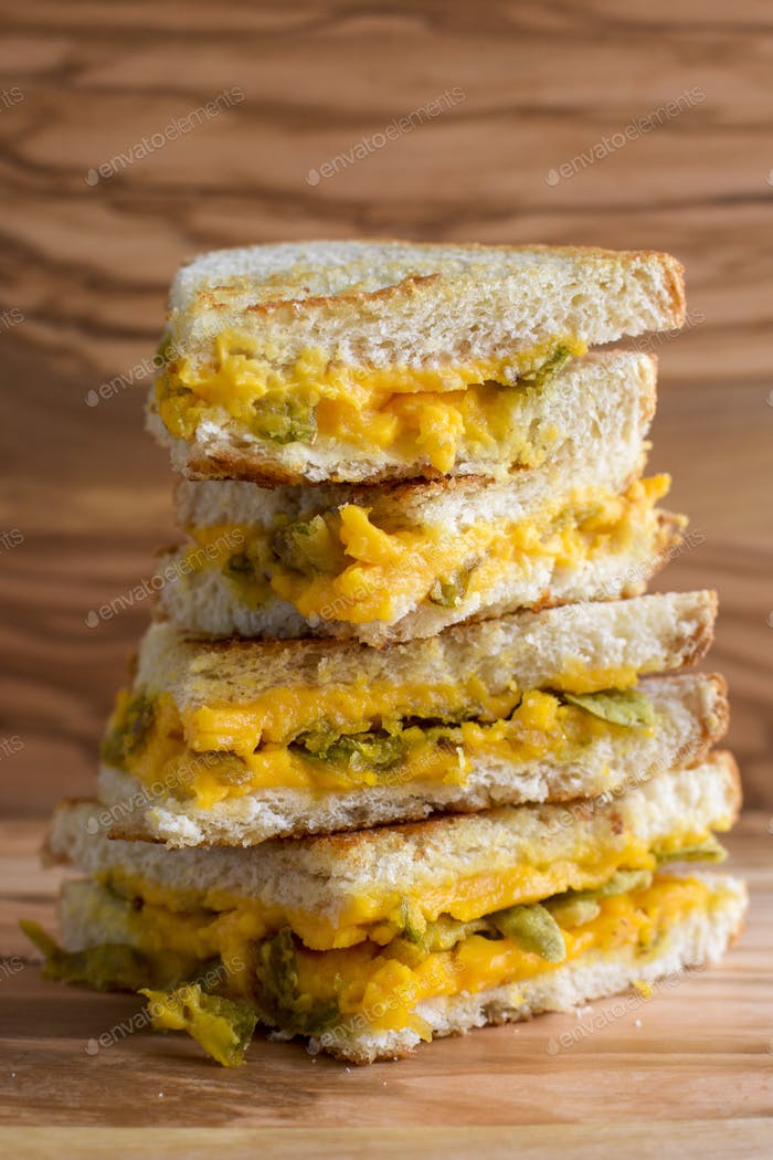 Grilled Cheese and Jalapeño Sandwich