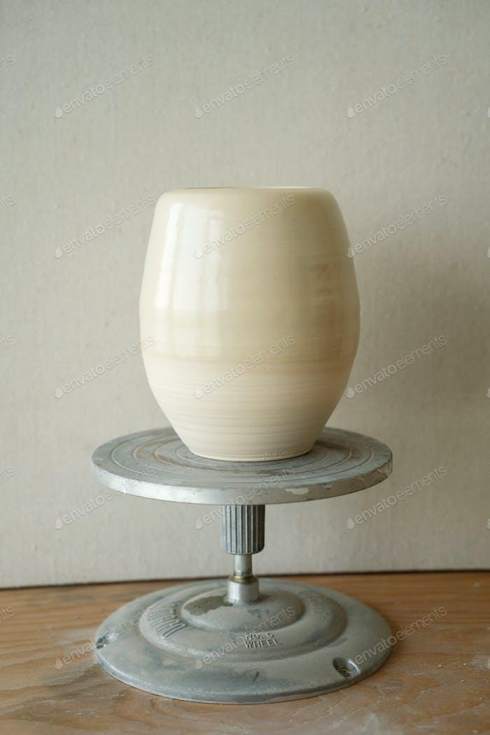 Vase auf dem Display