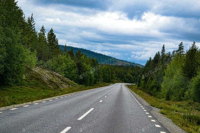 Road in north of sweden